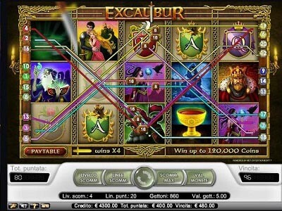 Excalibur slot machine