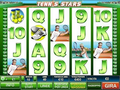 Tennis Stars slot machine gratis con bonus