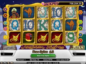 arabian night slot machine