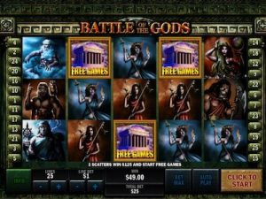 Battle of the Gods slot machine
