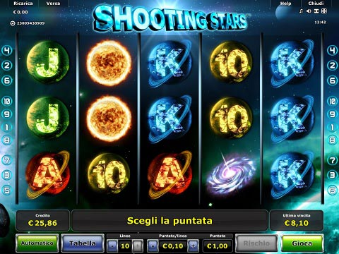 shooting stars slot machine